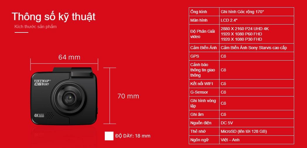 lắp đặt camera hành trình ô tô vietmap c61 pro chính hãng tại thành nam gps
