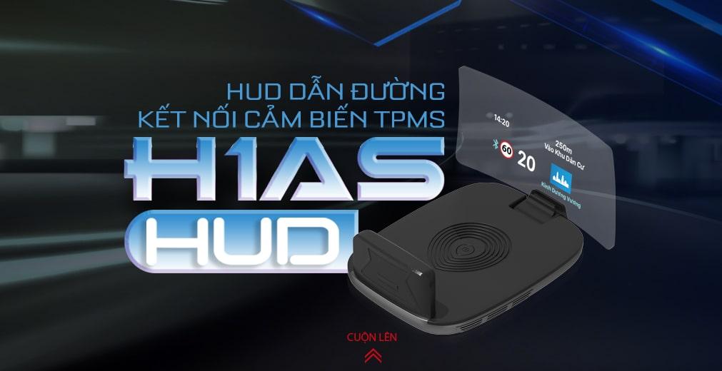 màn hình hiển thị hud vietmap h1as