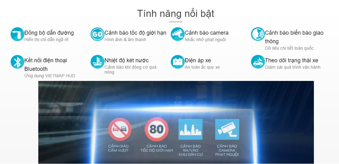 mau màn hình hud h1n chính hãng vietmap tại thành nam gps