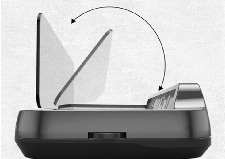 màn hình tự động gập hud h1x của vietmap
