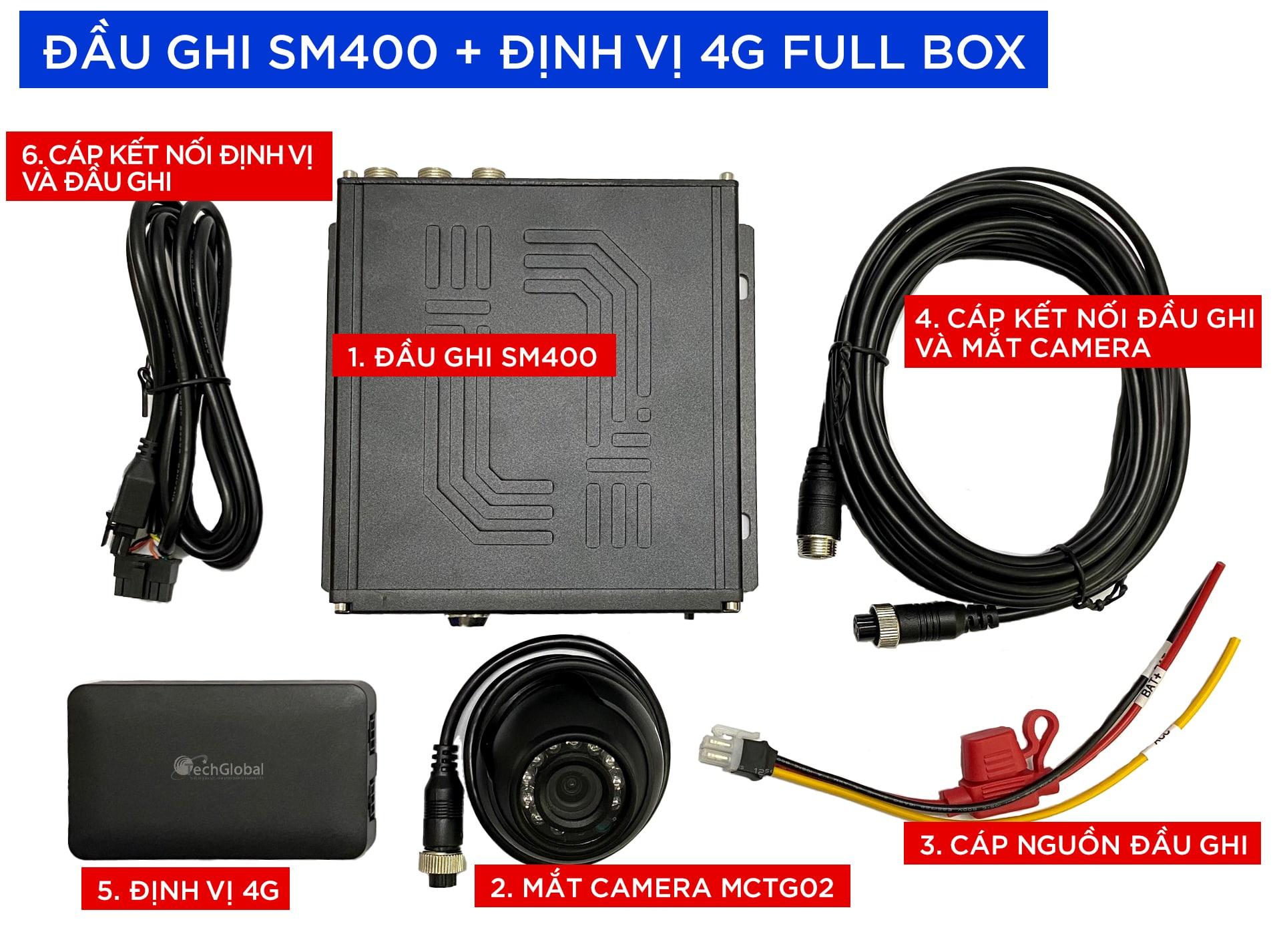 trọn bộ sản phẩm sm400 tại thành nam gps - địa chỉ lắp camera nghị định 10 uy tín